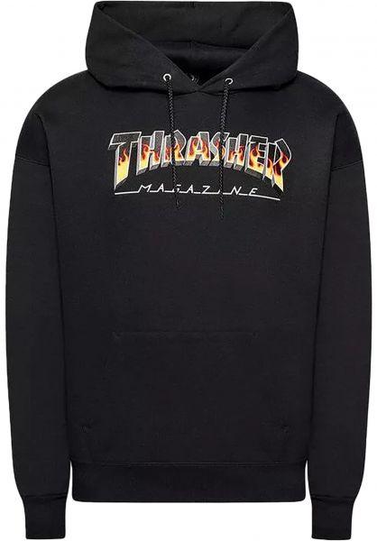 Thrasher Hoodies BBQ Redux black vorderansicht 0446480