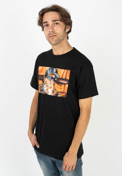 DGK T-Shirts Burnin´ black vorderansicht 0322030