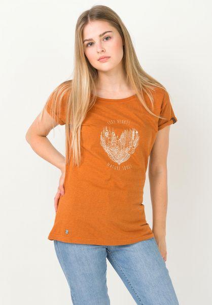 Ragwear T-Shirts Florah A pumpkin 320 vorderansicht 0322287
