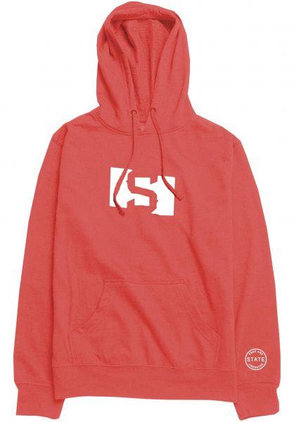 State Hoodies S Flag red vorderansicht 0445347