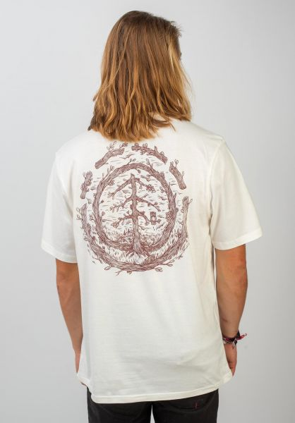 Element T-Shirts Timber Too Late Logo offwhite vorderansicht 0320508