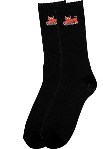 Toy-Machine Socken Devil Cat black vorderansicht 0632237