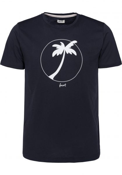 Forvert T-Shirts Chaney navy vorderansicht 0396762