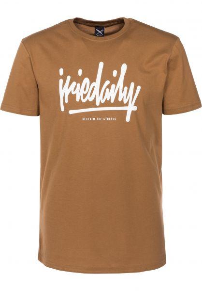 iriedaily T-Shirts Tagg Ahead caramel Vorderansicht