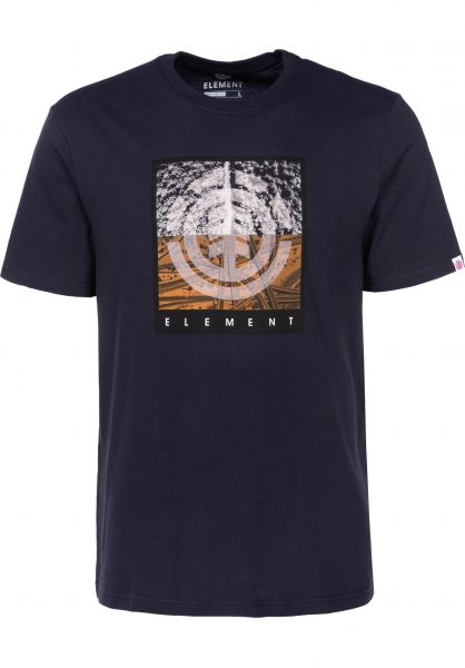 Element T-Shirts Reroute eclipsenavy Vorderansicht