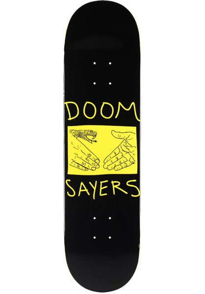 Doomsayers Skateboard Decks Snake Shake black Vorderansicht