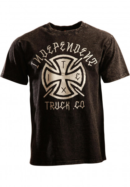 Independent T-Shirts Inked Cross concrete-black Vorderansicht