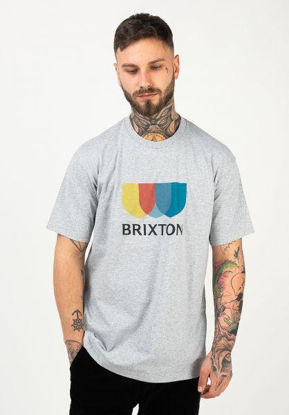 Brixton T-Shirts Alton heathergrey vorderansicht 0322484