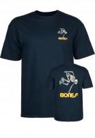 Powell-Peralta-T-Shirts-Skateboard-Skeleton-navy-Vorderansicht