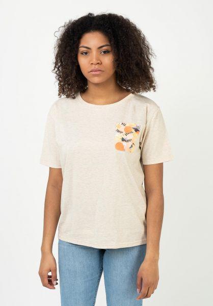 TITUS T-Shirts Abstract Pocket crememottled vorderansicht 0321964