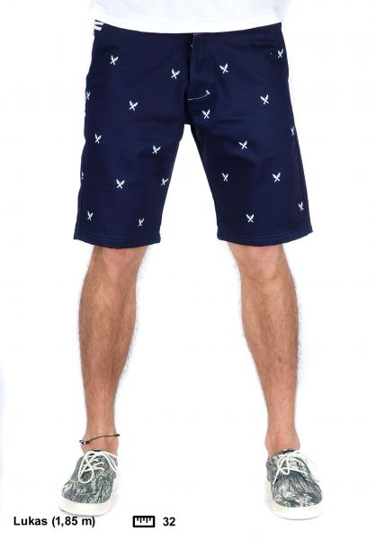 Turbokolor Shorts Chino Short navy Vorderansicht