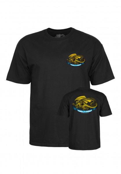 Powell-Peralta T-Shirts Oval Dragon Kids black Vorderansicht