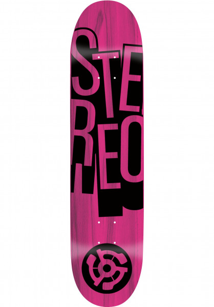 Stereo Skateboard Decks Stacked Price Point pink Vorderansicht