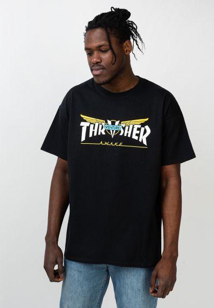 Thrasher T-Shirts Venture Collab black vorderansicht 0321612