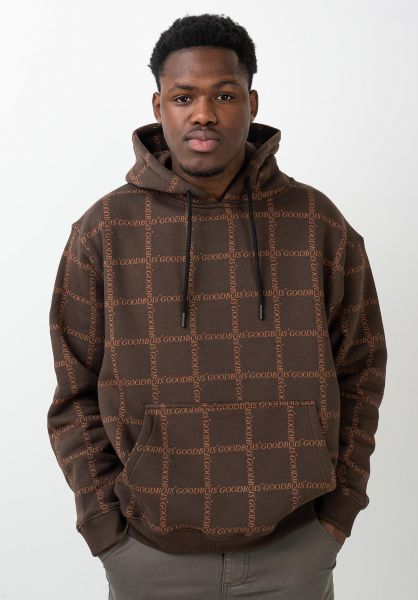 Goodbois Hoodies Classic Trademark All Over brown vorderansicht 0445819
