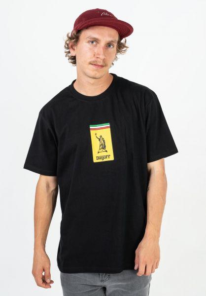 Day Off T-Shirts Jami black-yellow vorderansicht 0322954