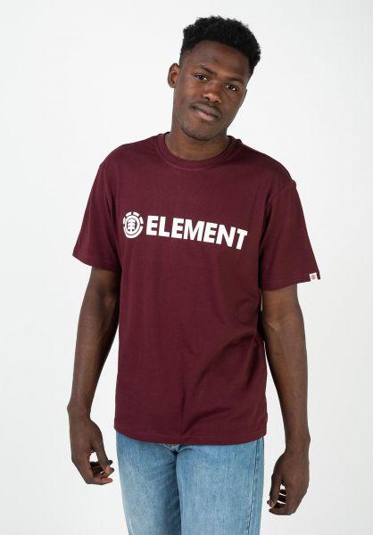 Element T-Shirts Blazin vintagered vorderansicht 0397805