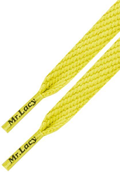 Mr. Lacy Schnürsenkel Flatties Junior yellow vorderansicht 0640009