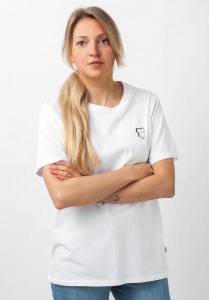 Cleptomanicx T-Shirts Toast white vorderansicht 0321093