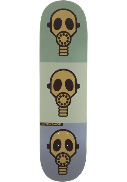 Alien-Workshop Skateboard Decks Gas Mask pastel vorderansicht 0119241