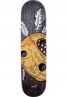 snack-skateboards-skateboard-decks-williams-mask-black-brown-vorderansicht-0265073