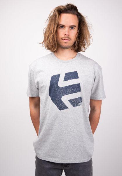 etnies T-Shirts Logomania heathergrey vorderansicht 0320047