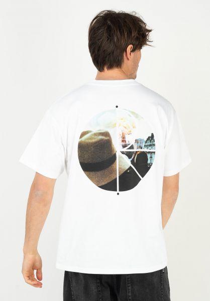 Polar Skate Co T-Shirts Notre Dame Fill Logo white vorderansicht 0323222