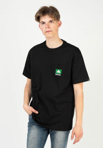 Emerica T-Shirts Combo Pocket black vorderansicht 0323616