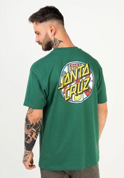Santa-Cruz T-Shirts Jackpot Dot evergreen vorderansicht 0322587