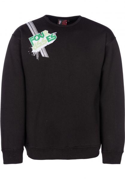 Fourasses Sweatshirts und Pullover Lines black vorderansicht 0421863