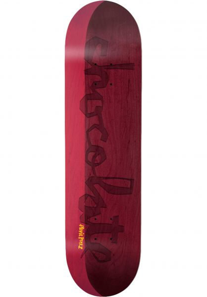 Chocolate Skateboard Decks Perez OG Chunk Split red-burgundy vorderansicht 0262951