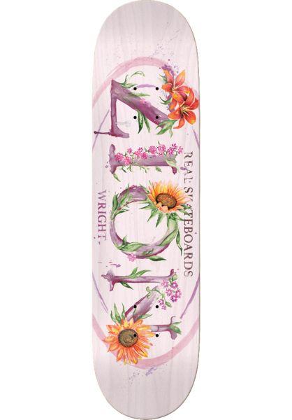 Real Skateboard Decks Wright Blossom Oval rose vorderansicht 0262678