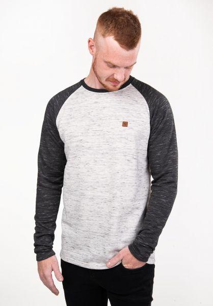 TITUS Sweatshirts und Pullover Thorben offwhitemottled-darkgreymottled vorderansicht 0382373