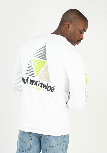 HUF Longsleeves Prism Logo white vorderansicht 0383842