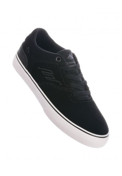 Emerica Alle Schuhe Reynolds Low Vulc Kids black-white-gum vorderansicht 0216064