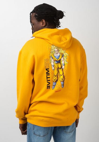 Primitive Skateboards Hoodies x Dragon Ball Z Goku Glow gold vorderansicht 0445690