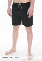 Globe-Beachwear-Dana-V-Poolshort-black-Vorderansicht