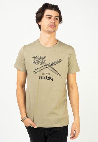 iriedaily T-Shirts Vegan Flag olivegrey vorderansicht 0323196