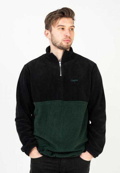 Cleptomanicx Sweatshirts und Pullover Softer Double black-scarabgreen vorderansicht 0422968