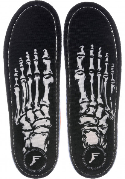 Footprint Insoles Einlegesohlen Kingfoam Orthotic Skeleton black Vorderansicht