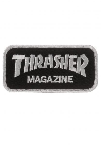 Thrasher Verschiedenes Logo Patch black Vorderansicht