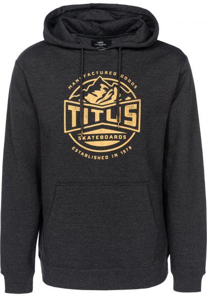 TITUS Hoodies Mountain darkgreymottled vorderansicht 0444846