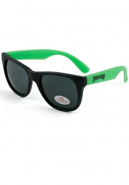 Thrasher Sonnenbrillen Logo green Vorderansicht