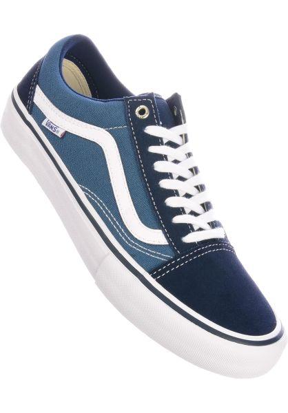 Vans Alle Schuhe Old Skool Pro navy-white vorderansicht 0603817