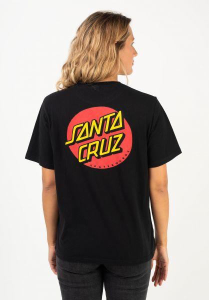 Santa-Cruz T-Shirts Classic Dot black vorderansicht 0397010