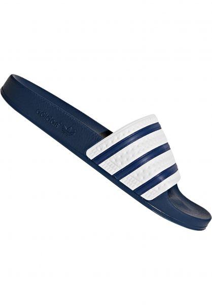 adidas Sandalen Adilette navy-white-navy vorderansicht 0620177