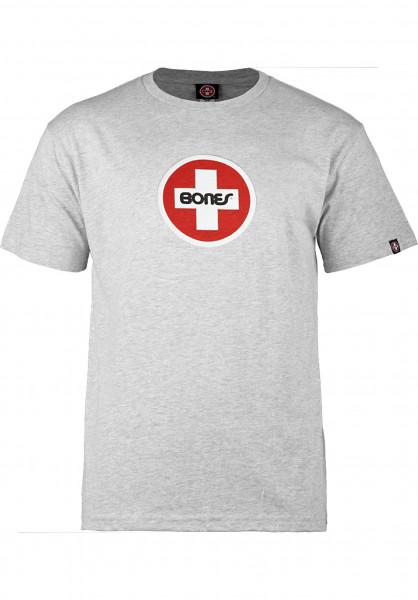 Bones Bearings T-Shirts Swiss-Circle greymottled Vorderansicht