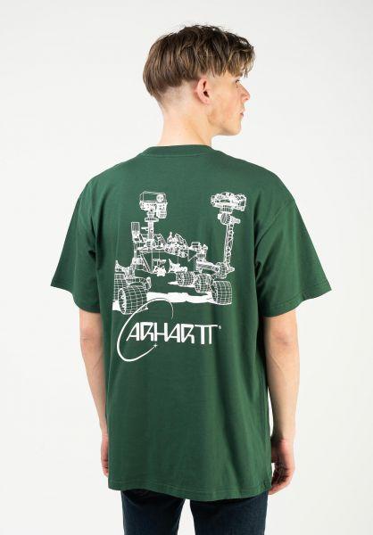 Carhartt WIP T-Shirts Orbit treehouse-white vorderansicht 0324142