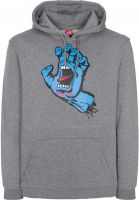 Santa-Cruz Hoodies Screaming Hand darkheather Vorderansicht
