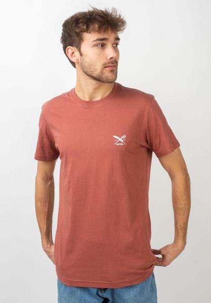 iriedaily T-Shirts Chestflag masala vorderansicht 0321467